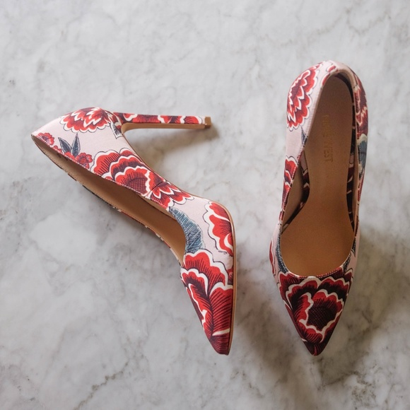 47f9a0683ad7 Nine West Shoes - Tatiana Pointy Toe Pumps - Floral Multi Fabric